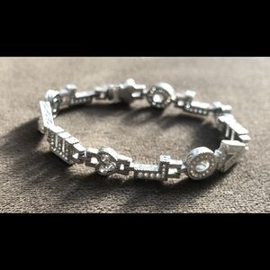 Judith Ripka Sterling Diamonique Love Bracelet